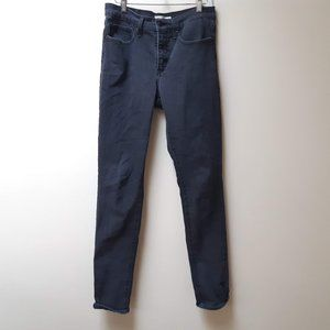 Levi's 311 shaping skinny faded black jeans